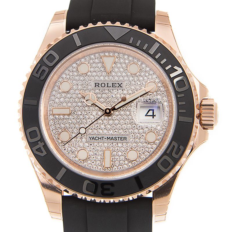 ROLEX ロレックス 116655 ヨットマスター 18KYG パヴェダイヤ文字盤 [取り寄せ/新品]