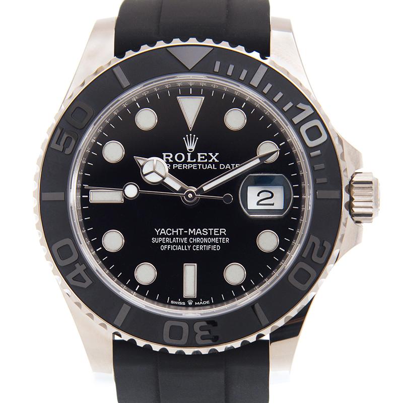VIP STATION-ROLEX ロレックス ヨットマスター 226659 [ブラックラバーベルト ブラック] [取り寄せ/新品]