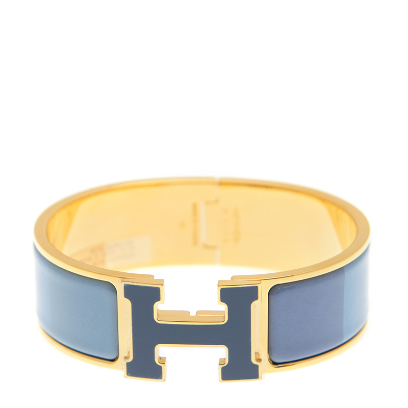 [取り寄せ/新品] HERMES エルメス ブレスレット H レインボー 7R ブルー  メタル GP
