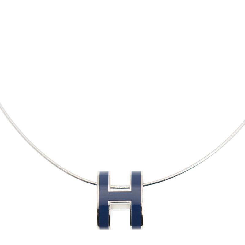 HERMES エルメス ネックレス H SS/73 ブルー メタル [取り寄せ/新品]