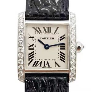 Cartier カルティエ タンクフランセーズ  SM アフターダイヤモンド W5001256 [中古]