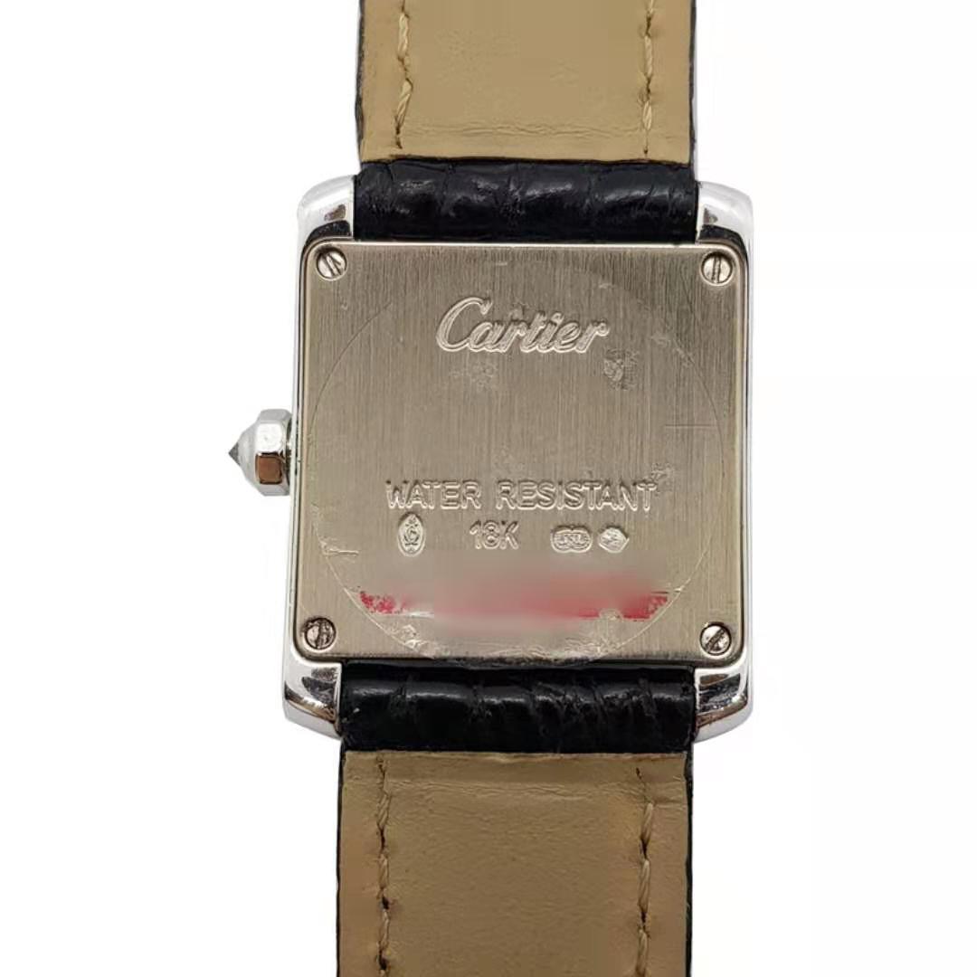 [中古] Cartier カルティエ タンクフランセーズ  SM アフターダイヤモンド W5001256